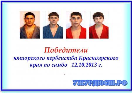 Первенство Красноярского края по самбо